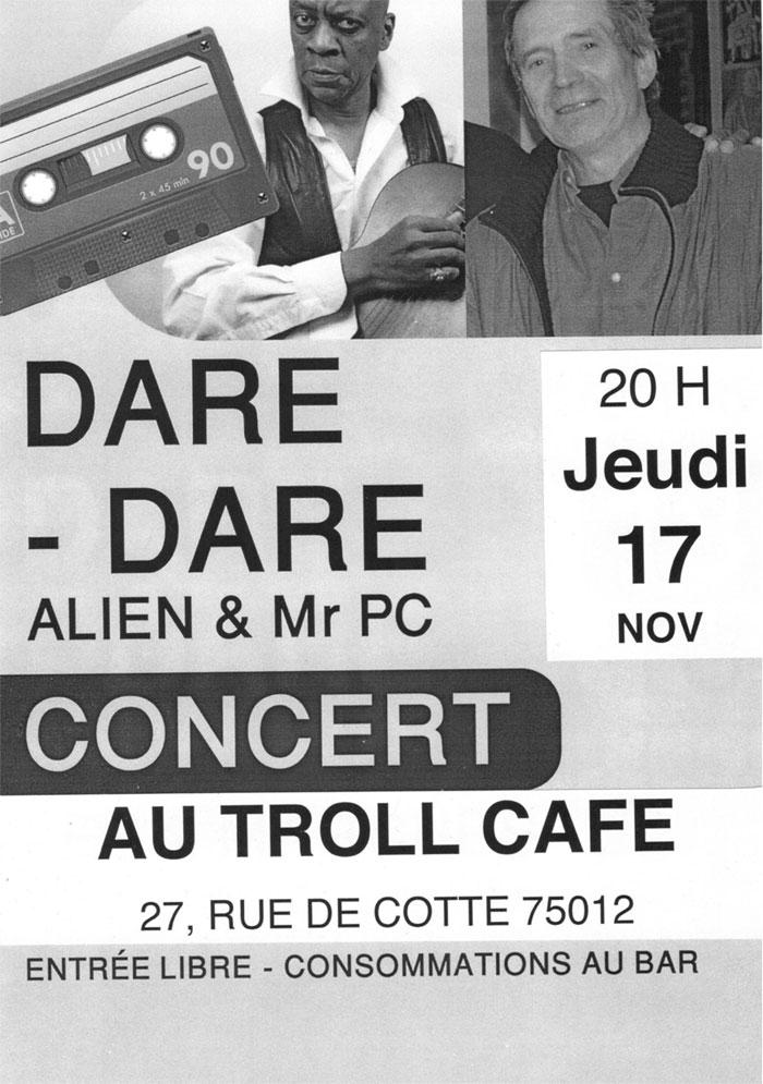 Dare Dare en concert au Troll Café